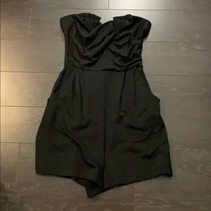 Silence + Noise Black Romper small